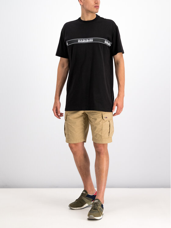 Napapijri Napapijri T-Shirt Sagar N0YHUD Černá Loose Fit