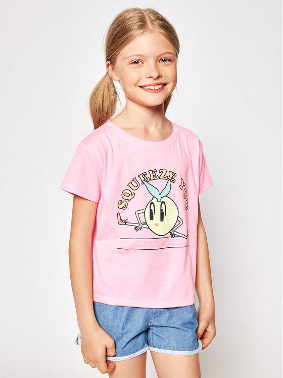 Billieblush Marškinėliai U15868 Rožinė Regular Fit