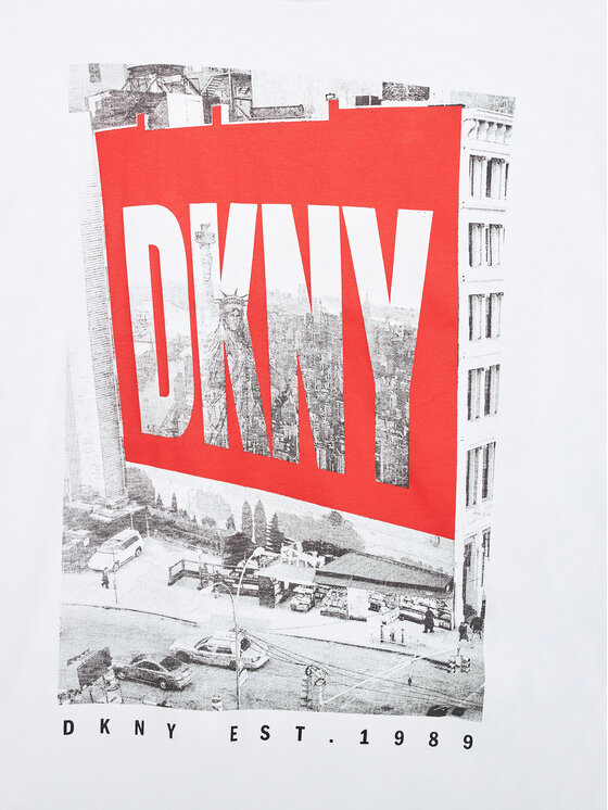 DKNY DKNY T-shirt D35R60 D Bijela Relaxed Fit