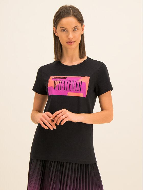 Armani Exchange Armani Exchange Marškinėliai 3HYTEM YJ16Z 1200 Juoda Regular Fit