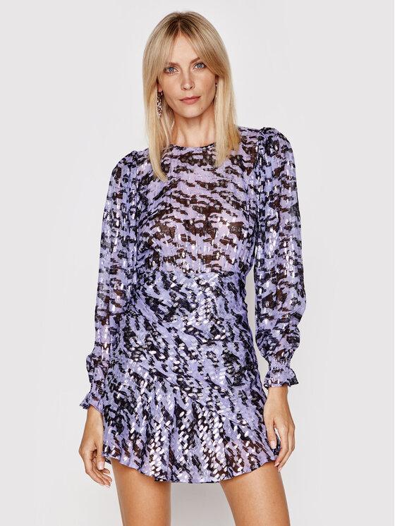 IRO Kokteilinė suknelė Barnel A0548 Violetinė Slim Fit