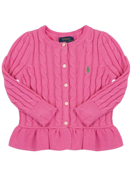 Polo Ralph Lauren Polo Ralph Lauren Sveter Peplum 313737911 Ružová Regular Fit
