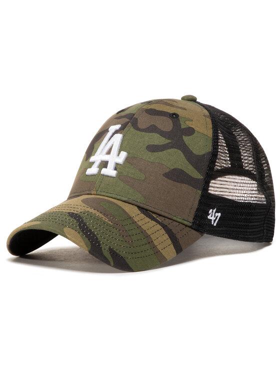 47 Brand Kepurė su snapeliu Mlb Los Angeles Dodgers Branson B-CBRAN12GWP-CMD Žalia