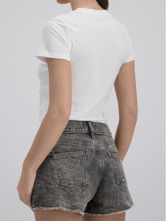 Guess Guess T-Shirt W92I59 K75R0 Bílá Slim Fit