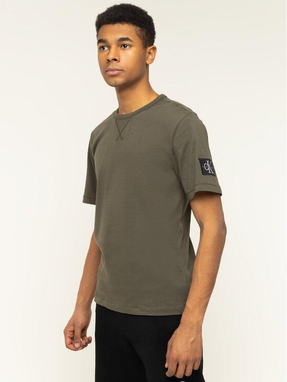 Calvin Klein Jeans Calvin Klein Jeans T-shirt Monogram Logo J30J314051 Vert Regular Fit