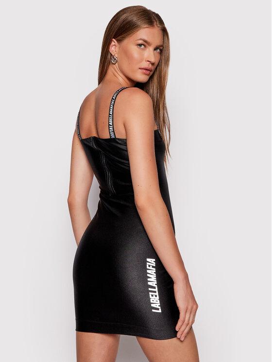 LaBellaMafia LaBellaMafia Sukienka koktajlowa 21773 Czarny Slim Fit