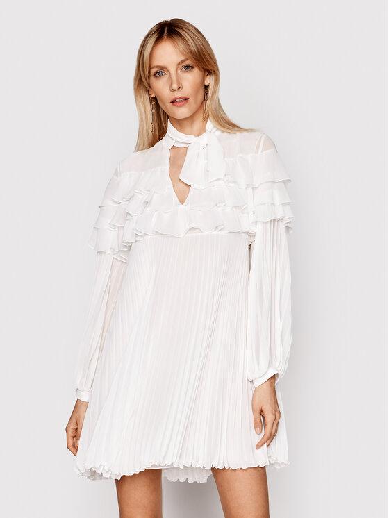 Babylon Kokteilinė suknelė N_E00724 Balta Relaxed Fit