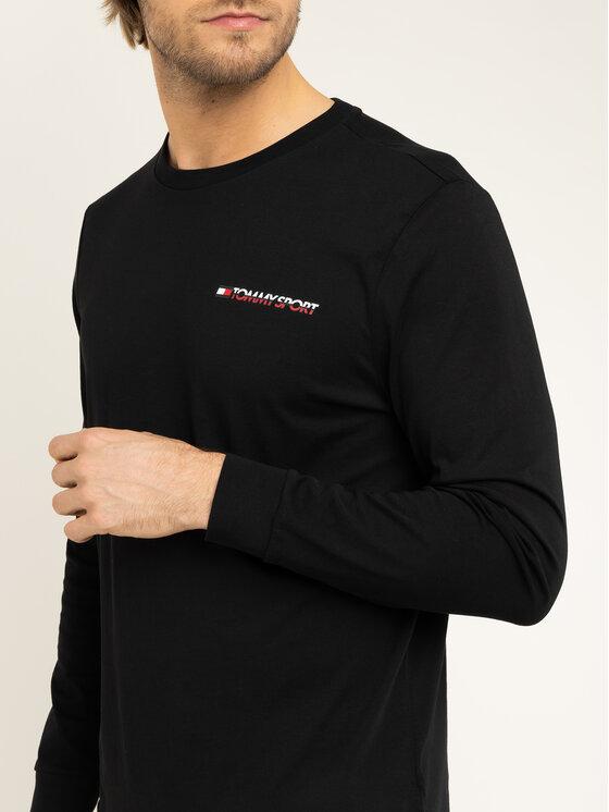 Tommy Sport Tommy Sport S dlhými rukávmi S20S200313 Čierna Regular Fit