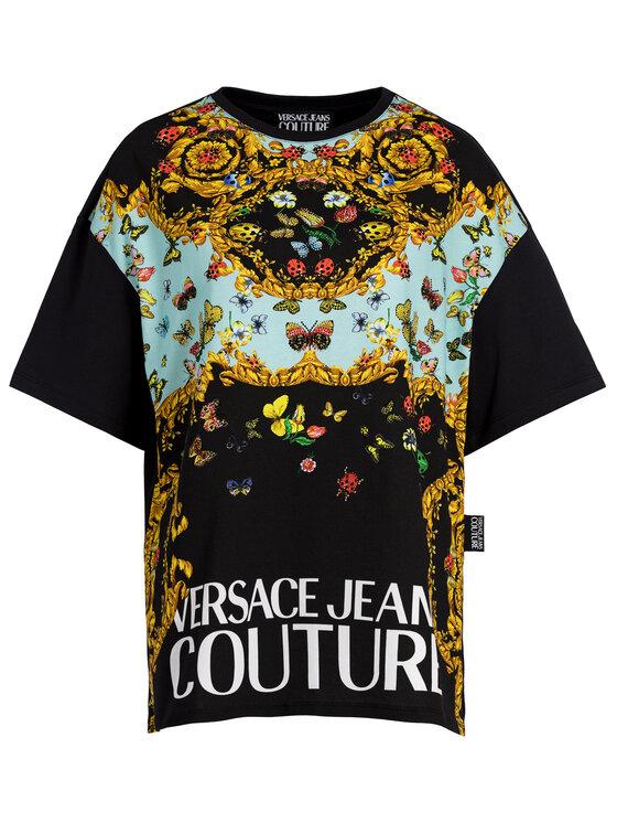 Versace Jeans Couture Versace Jeans Couture Тишърт B2HUA7DP Черен Regular Fit