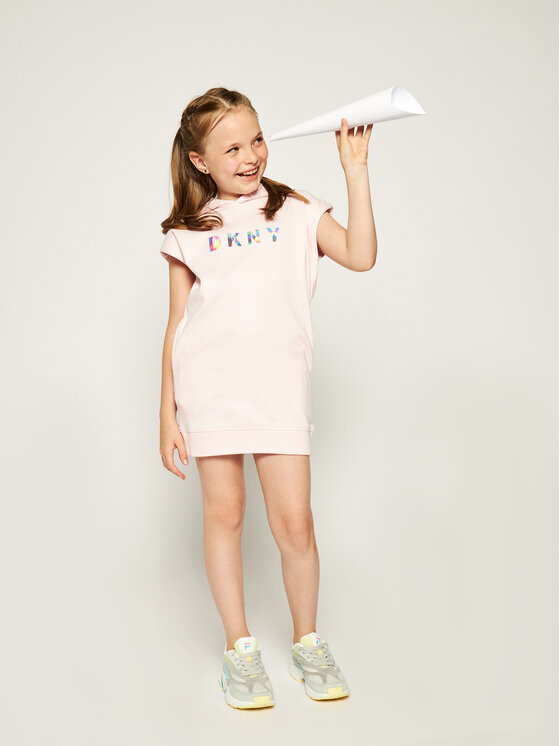 DKNY DKNY Ежедневна рокля D32738 M Розов Regular Fit