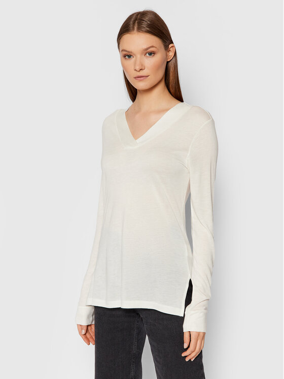 United Colors Of Benetton United Colors Of Benetton Bluzka 3AOHE4276 Biały Regular Fit