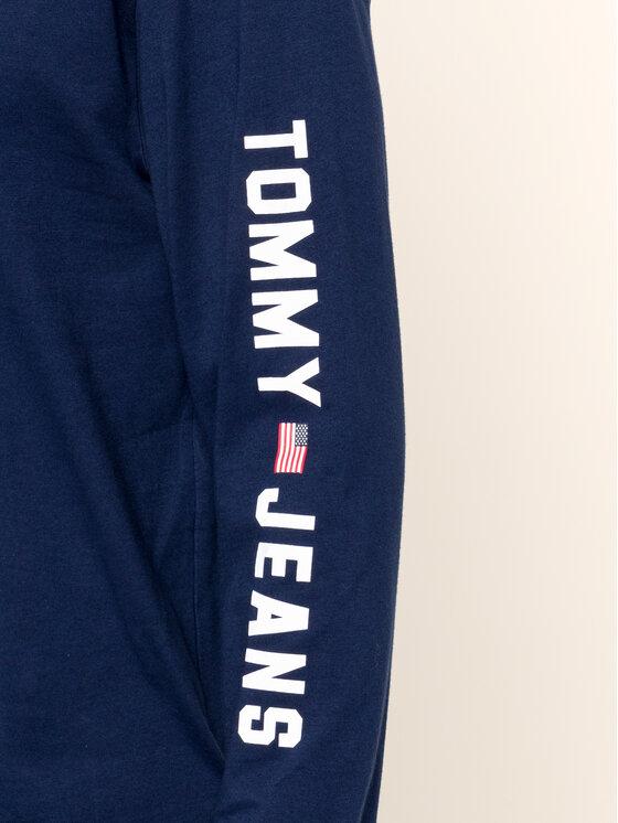Tommy Jeans Tommy Jeans Manches longues US Flag DM0DM07066 Bleu marine Regular Fit
