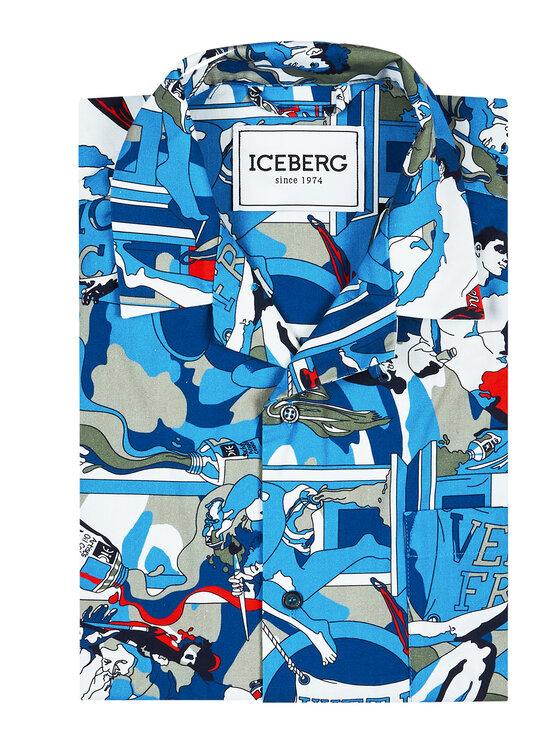 Iceberg Iceberg Koszula 21EI1P0G0300088SDX1 Niebieski Regular Fit