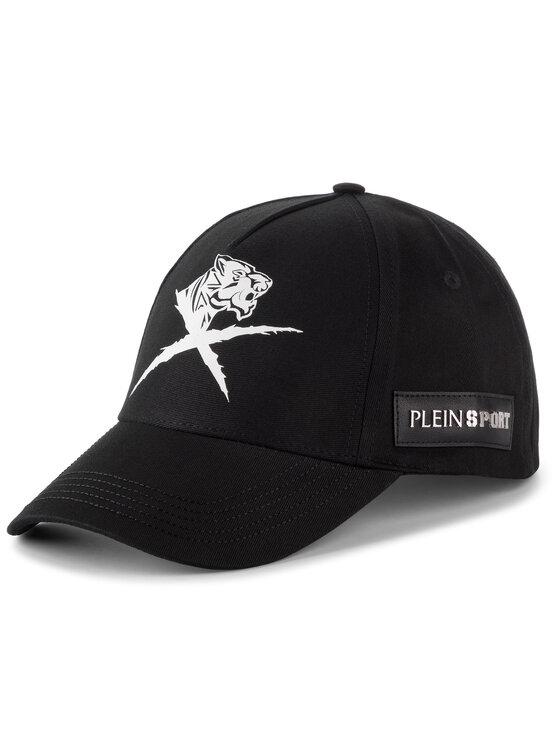 Plein Sport Plein Sport Καπέλο Jockey Visor Hat Cross Tiger F19A MAC0418 STE003N Μαύρο
