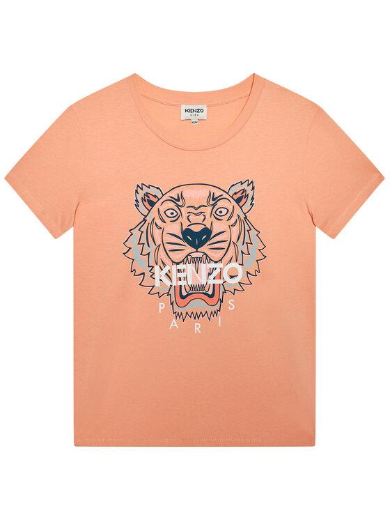 Kenzo Kids Marškinėliai K15079 D Rožinė Regular Fit