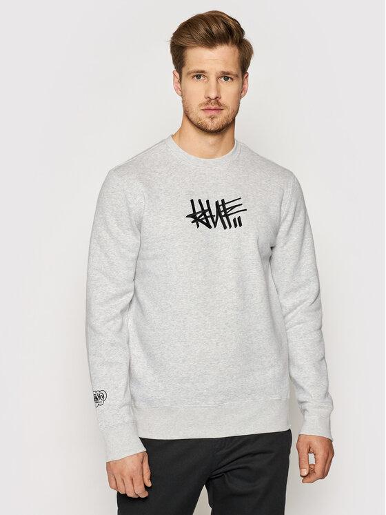 HUF Džemperis Haze Handstyle 1 PF00370 Pilka Regular Fit