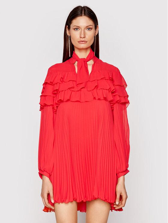 Babylon Kokteilinė suknelė N_E00724 Raudona Regular Fit