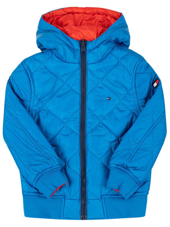 Tommy Hilfiger Tommy Hilfiger Átmeneti kabát Reversible Quilted KB0KB05493 M Kék Regular Fit