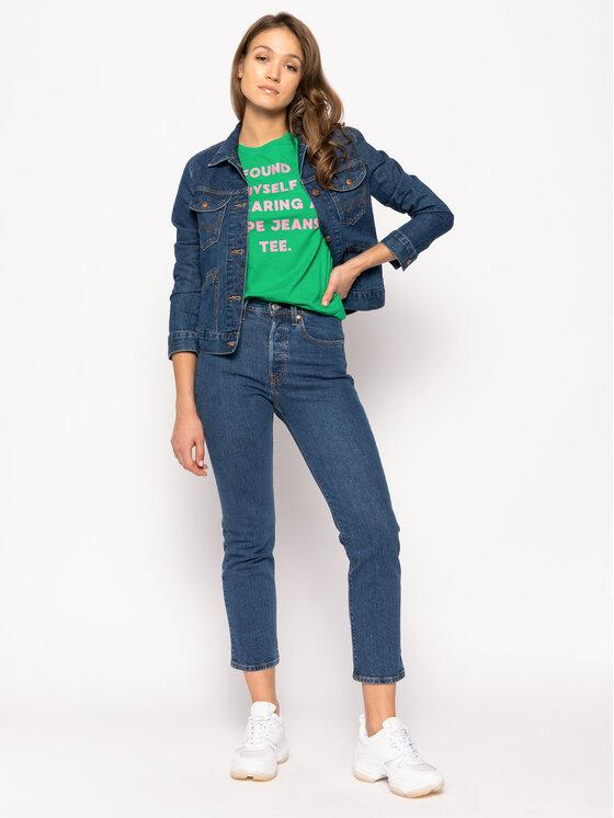 Pepe Jeans Pepe Jeans Póló Freja PL504463 Zöld Regular Fit