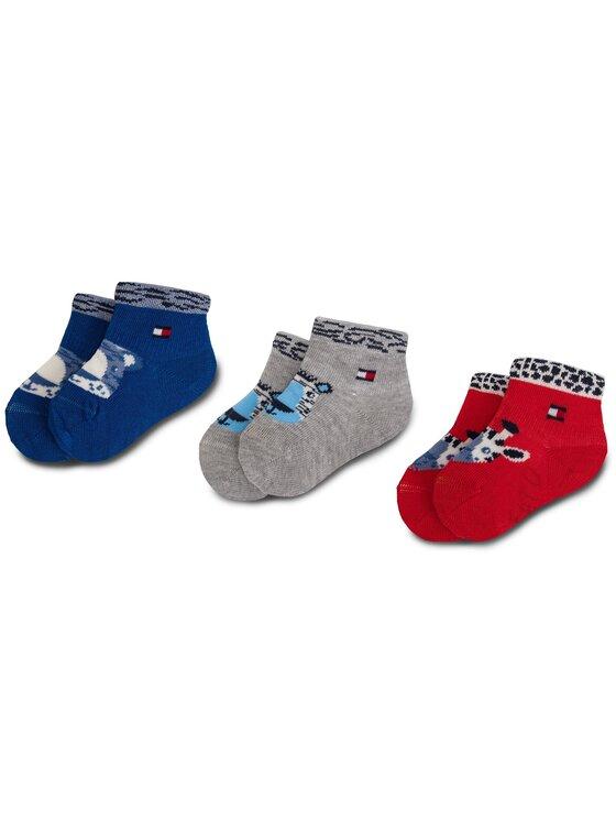 Tommy Hilfiger Tommy Hilfiger Súprava 3 párov vysokých detských ponožiek 395006001 Tmavomodrá
