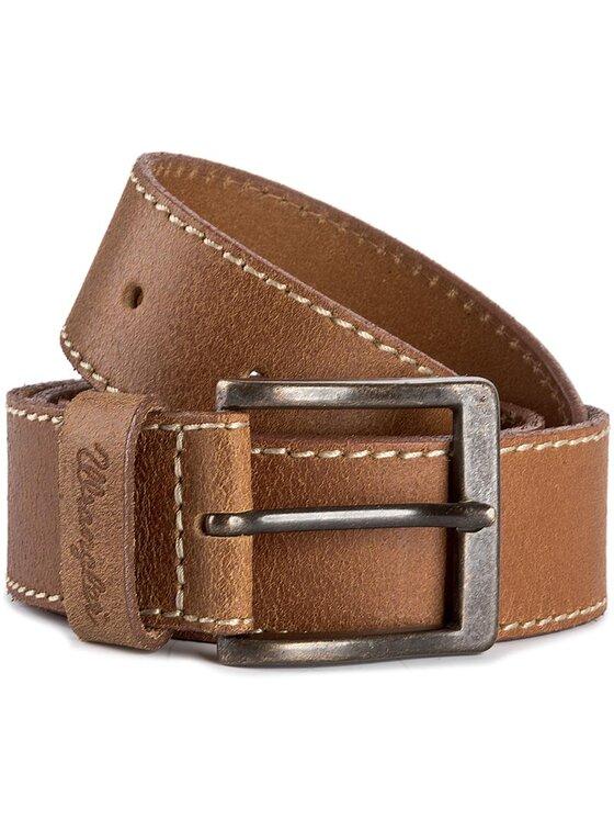 Wrangler Wrangler Pánsky opasok Stitched Belt W0081US81 85 Hnedá