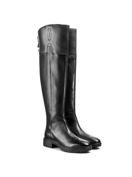 Geox Geox Μπότες πάνω από το γόνατο D Peaceful G D540GG 00043 C9999 Μαύρο
