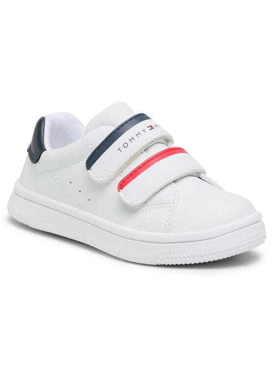 Tommy Hilfiger Tommy Hilfiger Sneakersy Low Cut Velcro Sneaker T1B4-31079-0193 M Biały