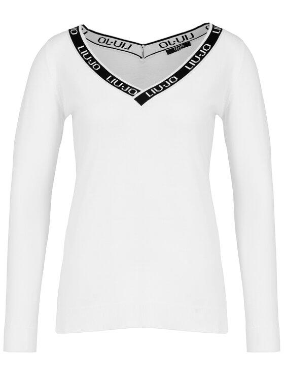 Liu Jo Sport Liu Jo Sport Sweater Maglia Chiusa T19171 MA43G Fehér Regular Fit