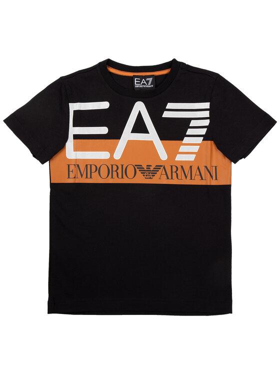 EA7 Emporio Armani EA7 Emporio Armani Marškinėliai 6GBT55 BJ02Z 1200 Juoda Regular Fit