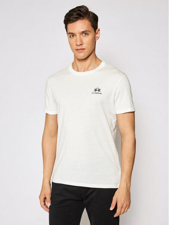 La Martina Marškinėliai Jersey CCMR02 JS206 Balta Regular Fit