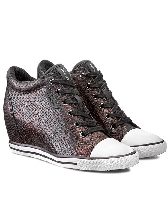 Calvin Klein Jeans Calvin Klein Jeans Sneakers Virginia Iridescent Python RE9343 Bordeaux