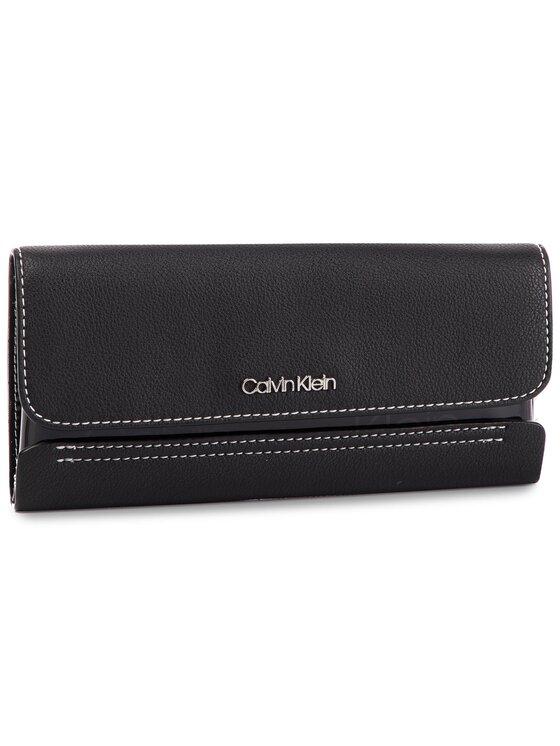 Calvin Klein Calvin Klein Duży Portfel Damski Slide Trifold Tr K60K605100 Czarny