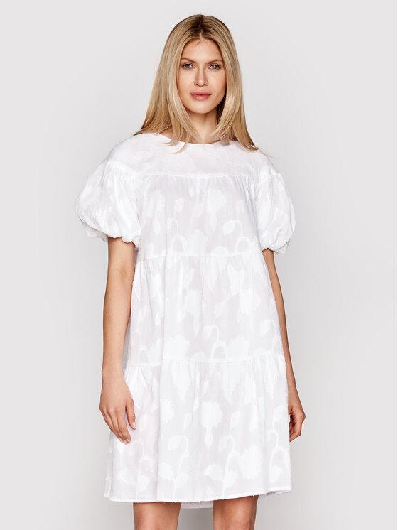 Luisa Spagnoli Kasdieninė suknelė Pastelli 538209 Balta Loose Fit