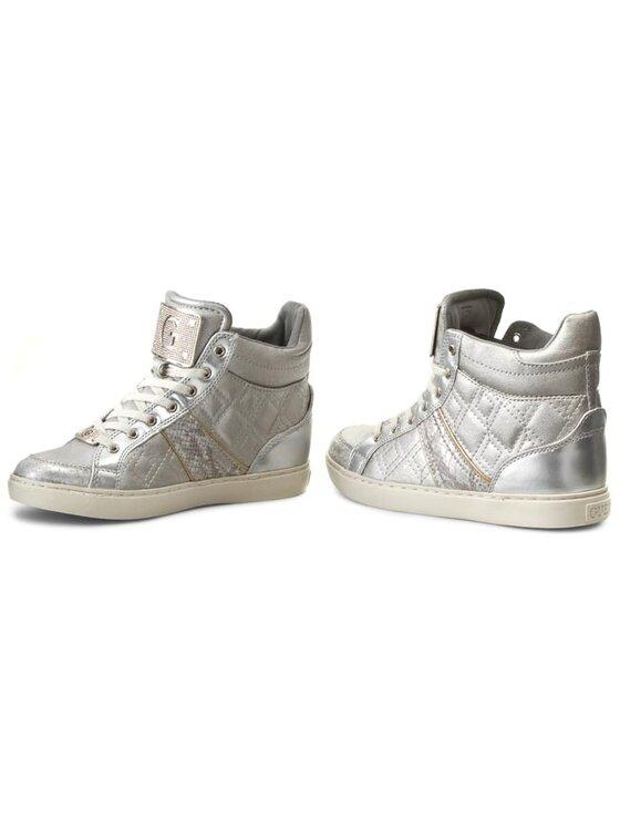 Guess Guess Sneakersy Rady FL1RAD ELE12 Srebrny