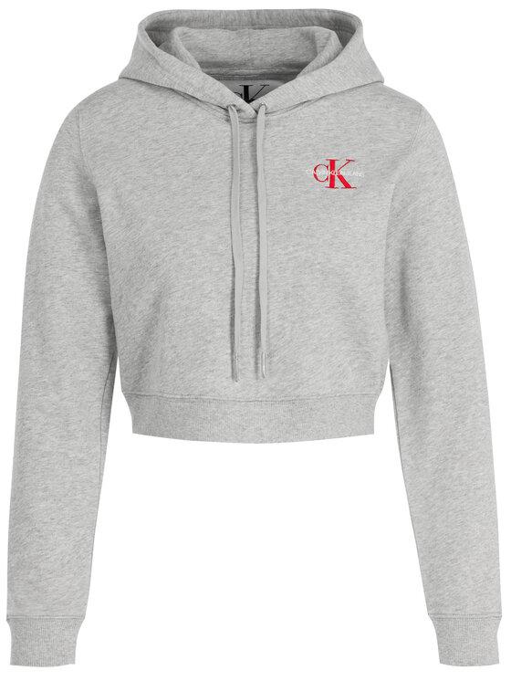 Calvin Klein Jeans Calvin Klein Jeans Džemperis Monogram Embroidery J20J210601 Pilka Regular Fit