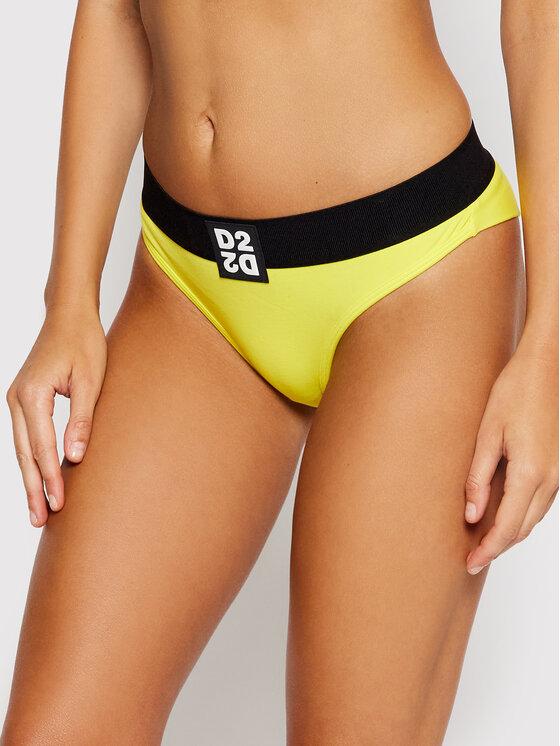 Dsquared2 Underwear Braziliškos kelnaitės D8LL12980 Geltona