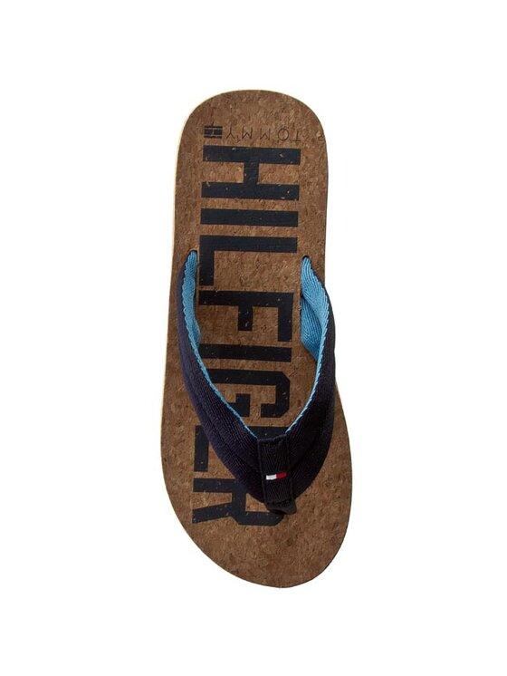 Tommy Hilfiger Tommy Hilfiger Šlepetės per pirštą Felipe 1D FM56821317 Tamsiai mėlyna