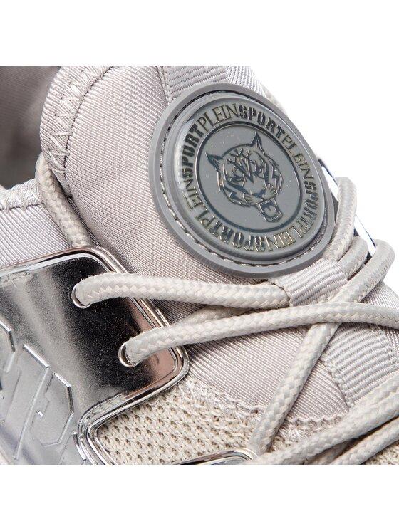 Plein Sport Plein Sport Sneakersy Runner Original A18S WSC1038 SKN002N Strieborná