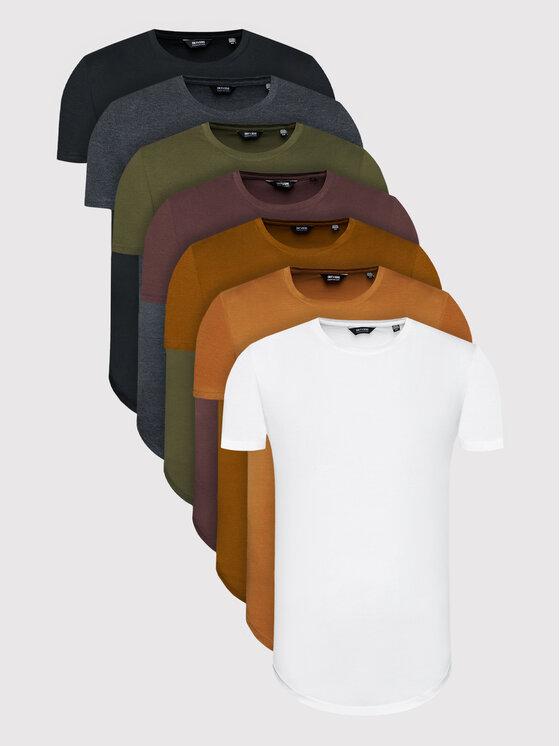 Only & Sons 7 marškinėlių komplektas Matt Life Long 22012787 Spalvota Regular Fit