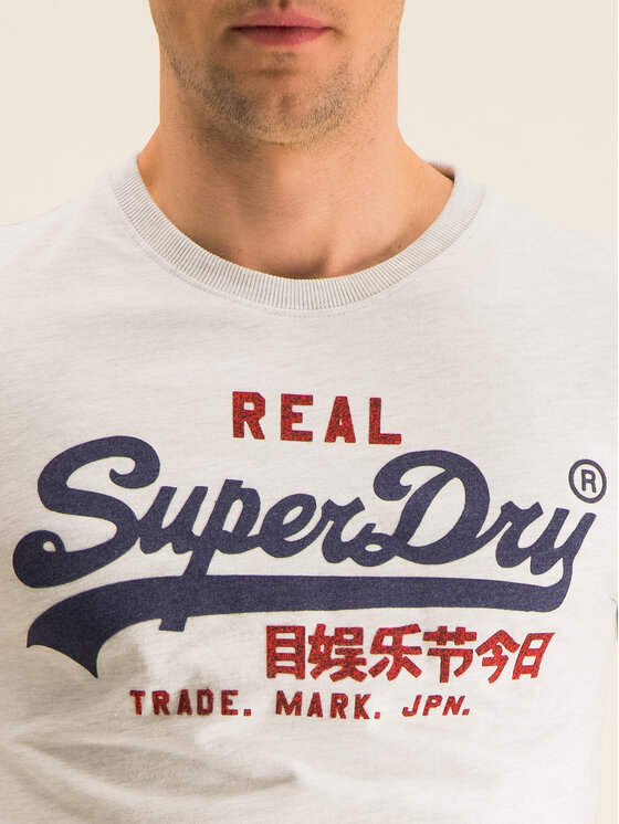 Superdry Superdry Tricou Vl Premium Goods Heat M1000107A Gri Regular Fit