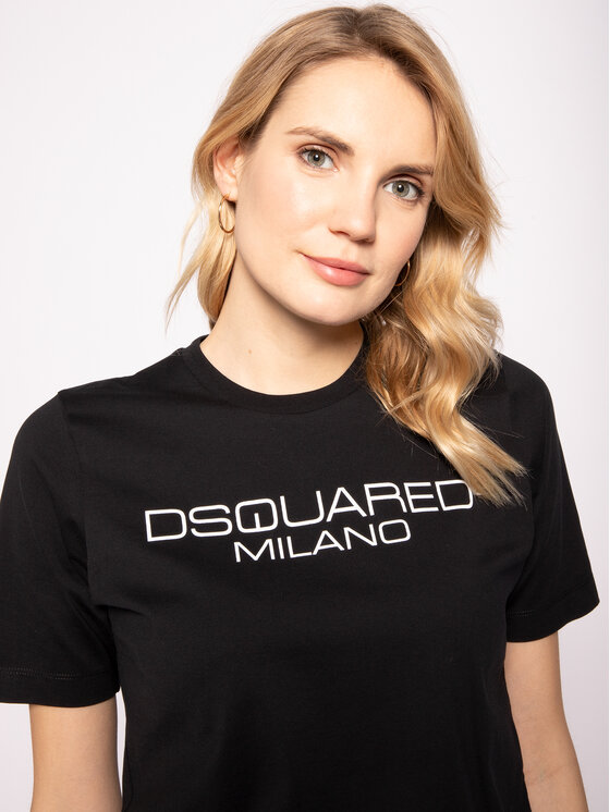 Dsquared2 Dsquared2 Тишърт Milano S75GD0082 Черен Regular Fit