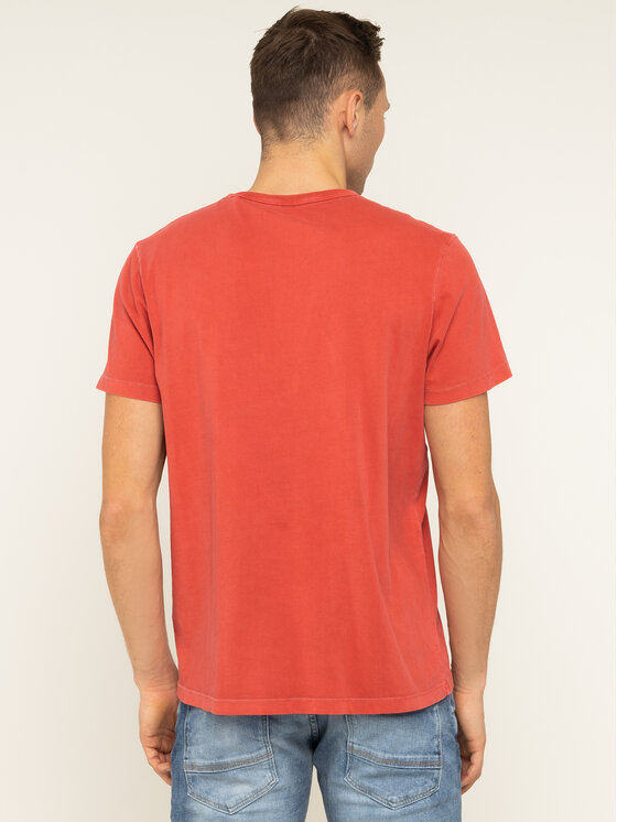 Pepe Jeans Pepe Jeans T-shirt Billy PM506908 Rouge Regular Fit