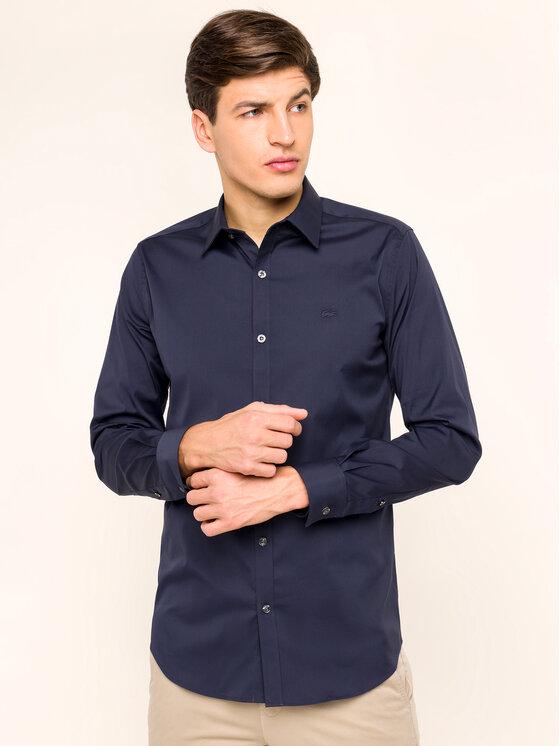 Lacoste Lacoste Πουκάμισο CH5366 Σκούρο μπλε Slim Fit