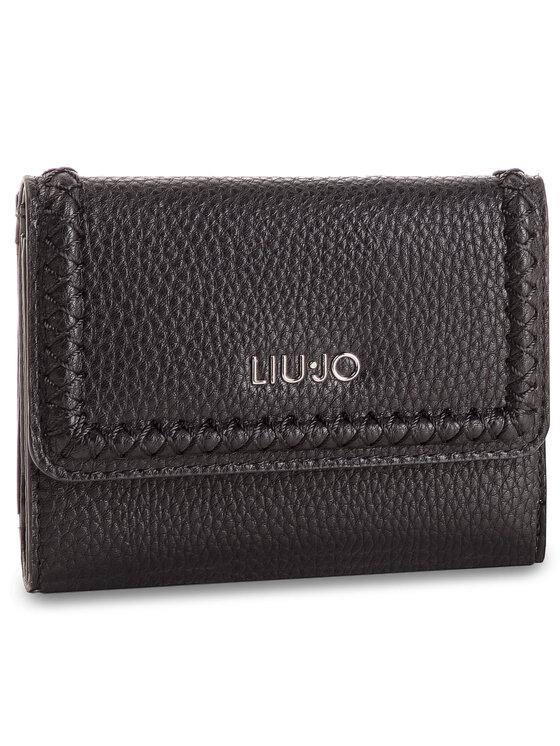 Liu Jo Liu Jo Малък дамски портфейл M Trifold A19165 E0086 Черен