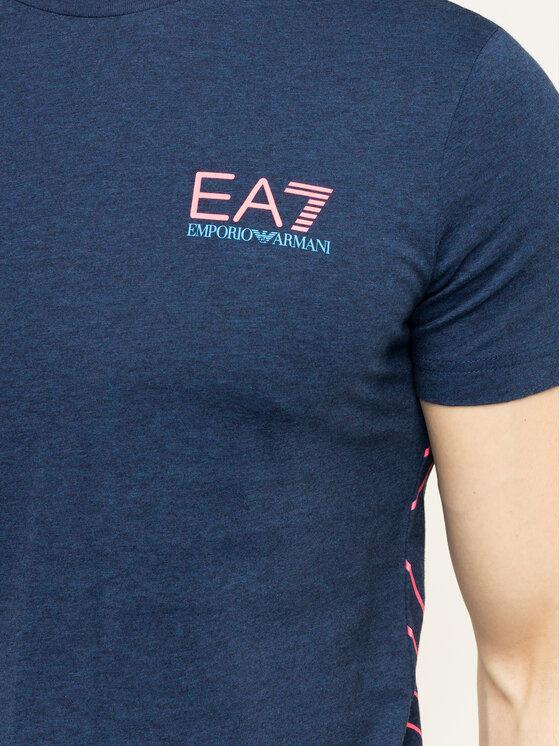 EA7 Emporio Armani EA7 Emporio Armani Póló 3HPT12 PJ02Z 3503 Sötétkék Regular Fit