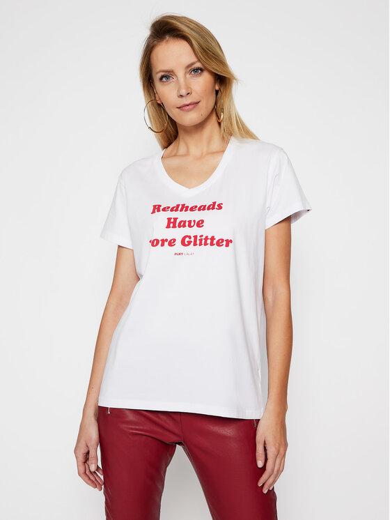 PLNY LALA Marškinėliai Redheads PL-KO-VN-00128 Balta Regular Fit