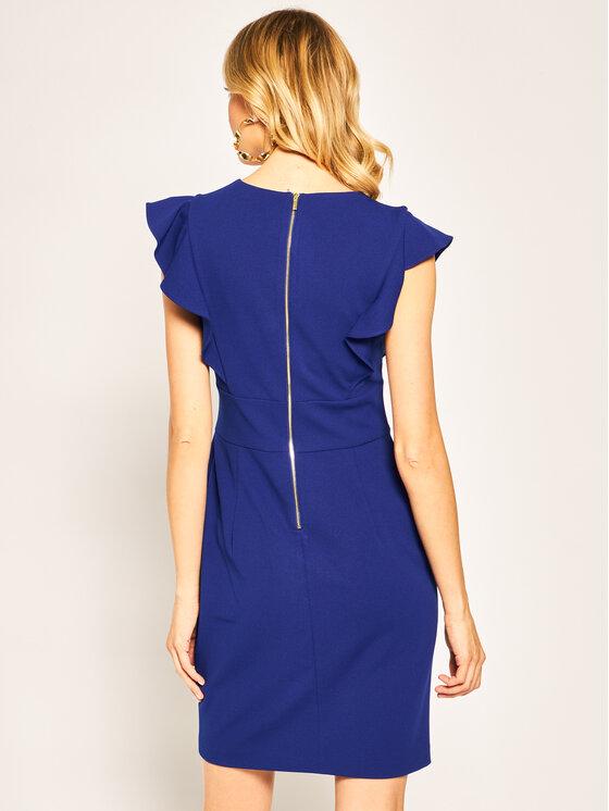 DKNY DKNY Коктейлна рокля DD9E1544 Тъмносин Slim Fit