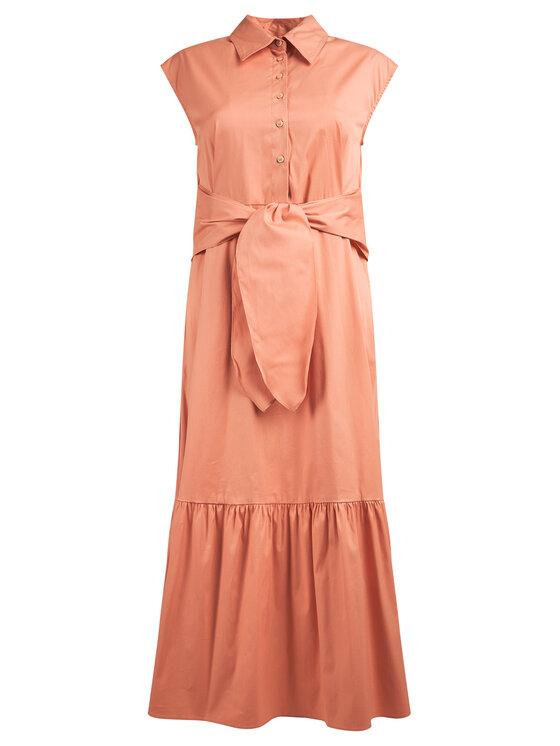 Marella Marella Sukienka koszulowa Orosei 32210105 Pomarańczowy Regular Fit