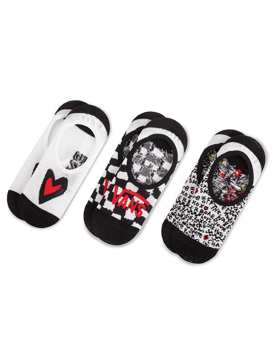 Vans Vans Sada 3 párů kotníkových ponožek unisex Checkerboard Canoodle VN0A3NGR448 Černá