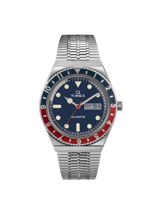Timex Laikrodis Q Reissue TW2T80700 Sidabrinė